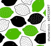 tropical contrast pattern with... | Shutterstock .eps vector #609523097