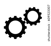 cogwheels or gears icon.... | Shutterstock . vector #609523307