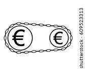 money working icon. euro coins... | Shutterstock . vector #609523313