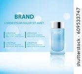skin toner ads template  glass... | Shutterstock .eps vector #609533747