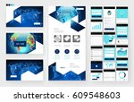 website template  one page... | Shutterstock .eps vector #609548603