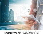 digital marketing technology... | Shutterstock . vector #609549413