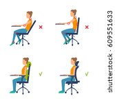 correct  incorrect position... | Shutterstock .eps vector #609551633