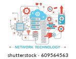 modern graphic flat line design ... | Shutterstock . vector #609564563