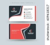 double sided business card... | Shutterstock .eps vector #609618317