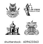 law firm logotypes with goddess ... | Shutterstock .eps vector #609623363