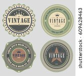 retro vintage badge and label... | Shutterstock .eps vector #609628463
