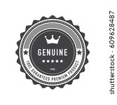 retro vintage badge and label... | Shutterstock .eps vector #609628487