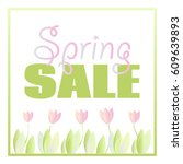 vector isolated spring sale... | Shutterstock .eps vector #609639893