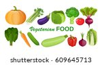 eco food menu background. fresh ... | Shutterstock . vector #609645713