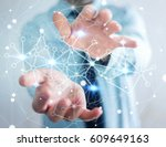 businessman in office holding... | Shutterstock . vector #609649163