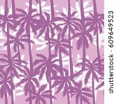 palm tree  pattern  vector ... | Shutterstock .eps vector #609649523