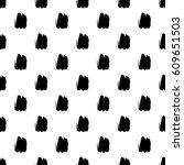 seamless brush stroke pattern. | Shutterstock .eps vector #609651503