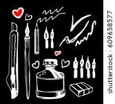 paint  brush  stroke  vector ... | Shutterstock .eps vector #609658577