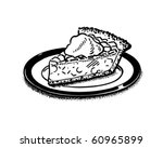 piece of pie   retro clip art | Shutterstock .eps vector #60965899
