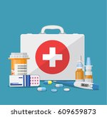medical care concept. medical... | Shutterstock . vector #609659873