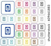 mobile simcard color flat icons ... | Shutterstock .eps vector #609661883
