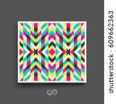 mosaic pattern. geometric... | Shutterstock .eps vector #609662363