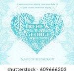 blue wedding invitation card....