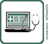 medical blog icon | Shutterstock .eps vector #609666503