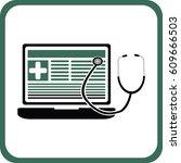 medical blog icon | Shutterstock .eps vector #609666503