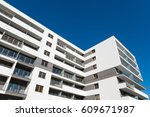 new modern apartment flats... | Shutterstock . vector #609671987