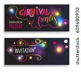horizontal invitation flyer for