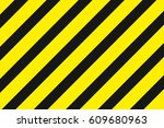 yellow background black... | Shutterstock .eps vector #609680963
