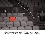vacant seats of a theater... | Shutterstock . vector #609681563