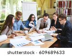 creative team of professionals... | Shutterstock . vector #609689633