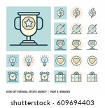 icon set for real estate agency.... | Shutterstock .eps vector #609694403