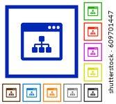 networking application flat... | Shutterstock .eps vector #609701447