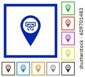 bank atm gps map location flat... | Shutterstock .eps vector #609701483