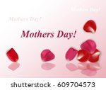 gift card with rose petals   Shutterstock .eps vector #609704573