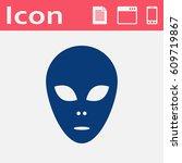 alien vector flat icon  | Shutterstock .eps vector #609719867