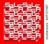 sale banner   different depth... | Shutterstock .eps vector #609727487