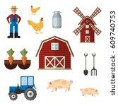 Set Of Farm Color Icons  Desig...
