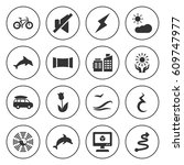set of 16 abstract filled icons ...   Shutterstock .eps vector #609747977