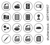 set of 16 document filled icons ... | Shutterstock .eps vector #609749957