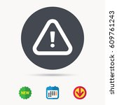 warning icon. attention... | Shutterstock .eps vector #609761243