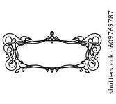 decorative frame  design... | Shutterstock .eps vector #609769787