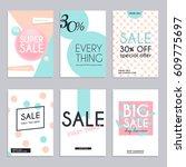 sale website banners web... | Shutterstock .eps vector #609775697