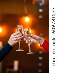 celebration. people holding... | Shutterstock . vector #609781577