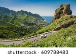 car on the road in tenerife ... | Shutterstock . vector #609788483