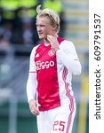 Small photo of NETHERLANDS, DEN HAAG - 16th Oct 2016: at the Kyocera Stadium, Ajax player Kasper Dolberg