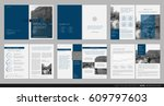 design annual report  cover ... | Shutterstock .eps vector #609797603