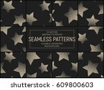 set of 10 vector abstract... | Shutterstock .eps vector #609800603
