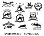 polo or equine sport club... | Shutterstock .eps vector #609802523
