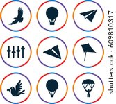 freedom icons set. set of 9...   Shutterstock .eps vector #609810317