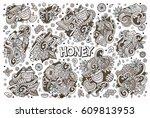 vector hand drawn doodle... | Shutterstock .eps vector #609813953